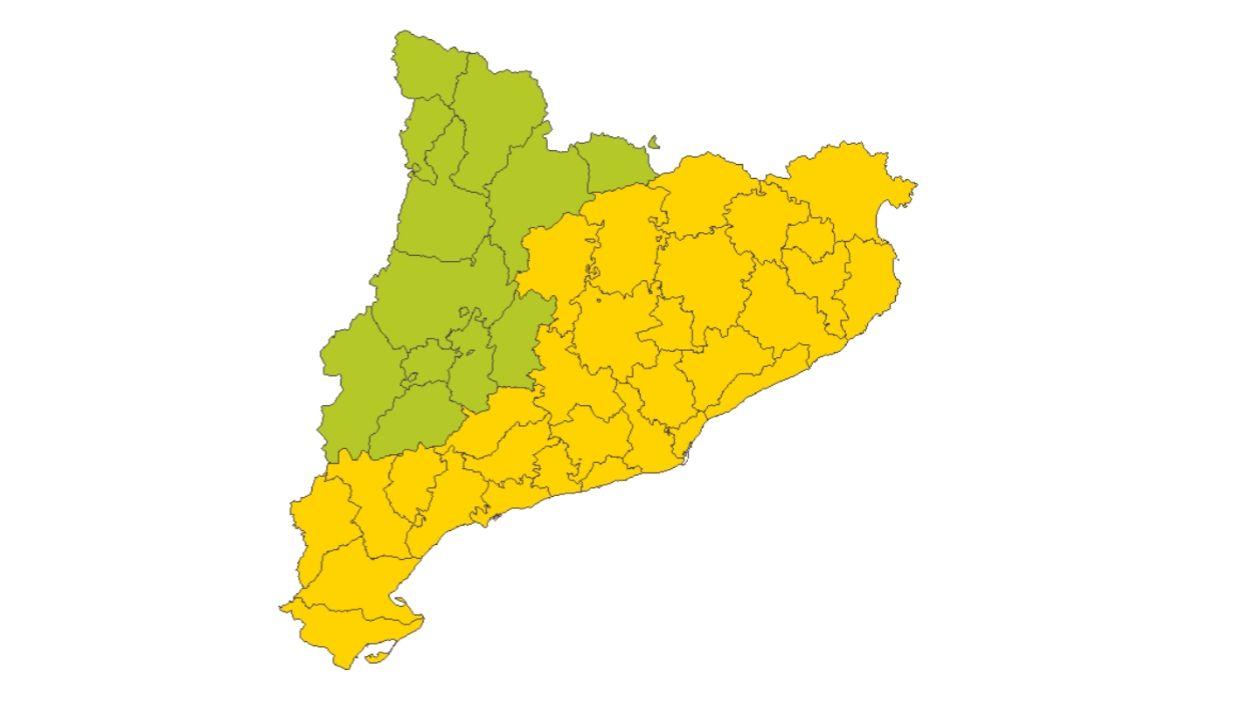 El perill per la ventada és moderat i afecta més de la meitat de Catalunya / Foto: SMC