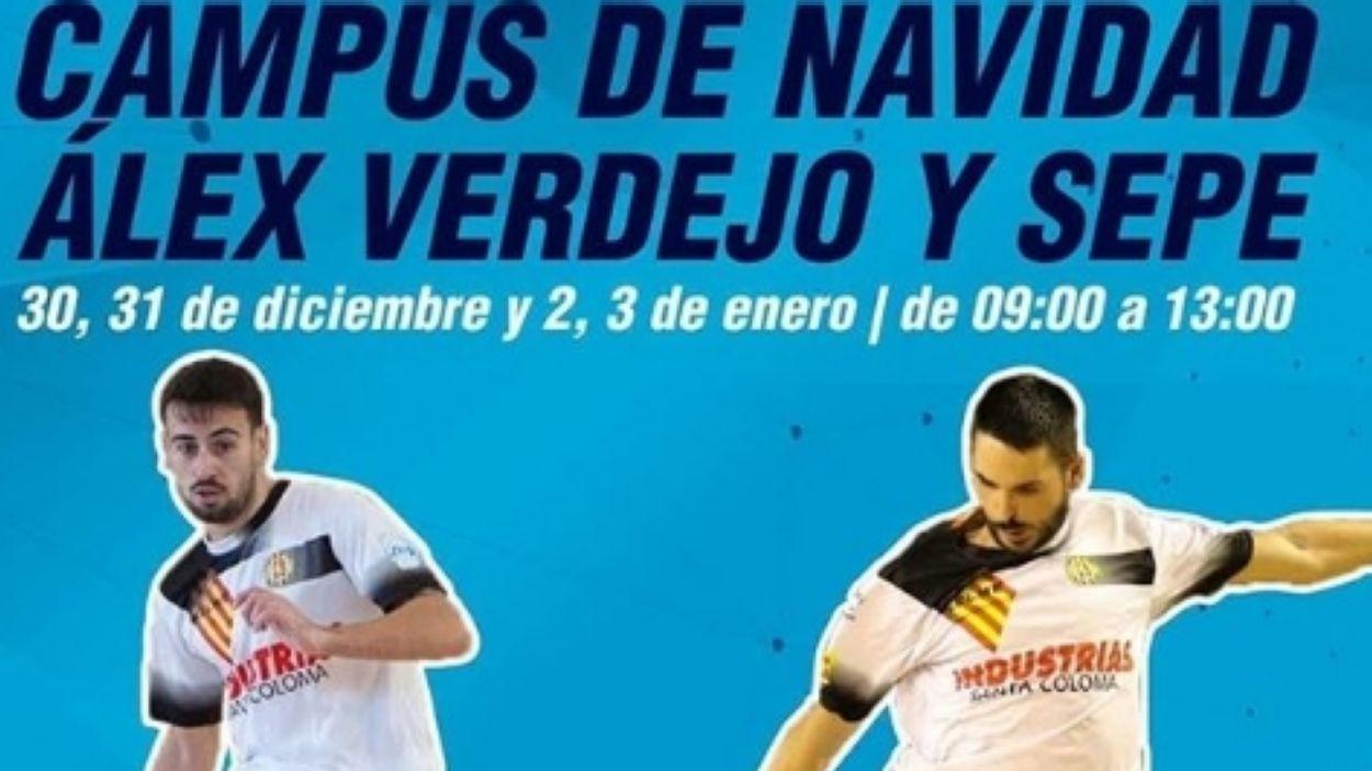 El campus de Nadal del Futbol Sala Sant Cugat, amb dos jugadors de luxe / Font: Futbol Sala Sant Cugat