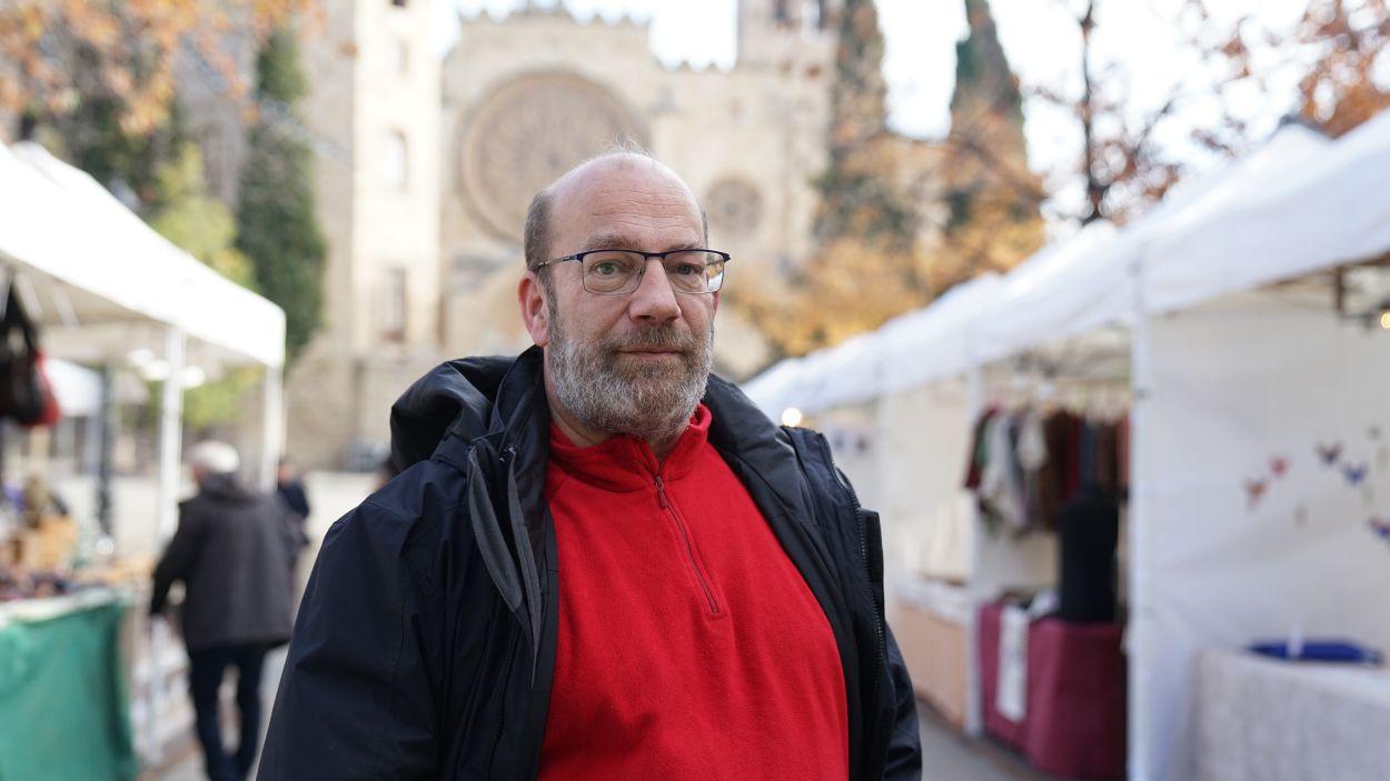 Pablo Giménez, fundador i sotspresident de l'associació santcugatenca Ayudar Jugando / Foto: Guillem Babitsch (Cugat Mèdia)