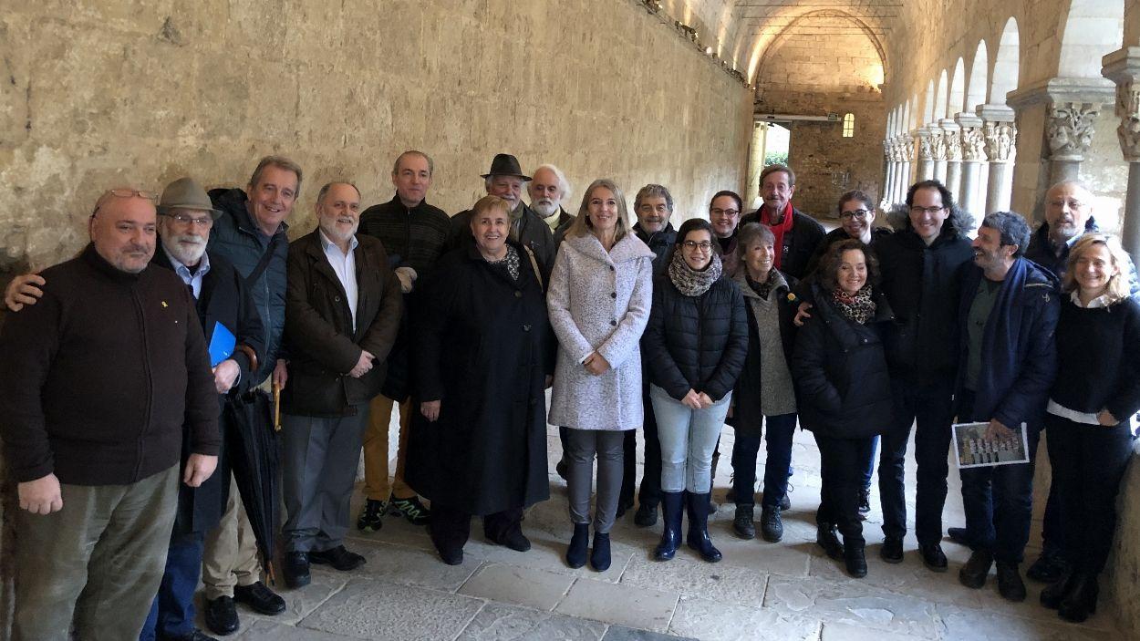 Fotografia de família amb els responsables de Pedra i Sang / Foto: Cugat Mèdia