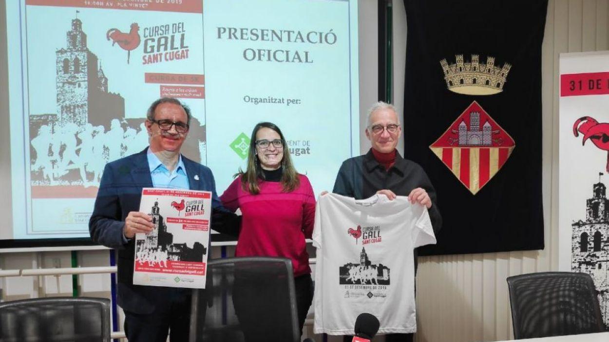 Imatge de la presentació de la Cursa del Gall / Font: Cugat Mèdia