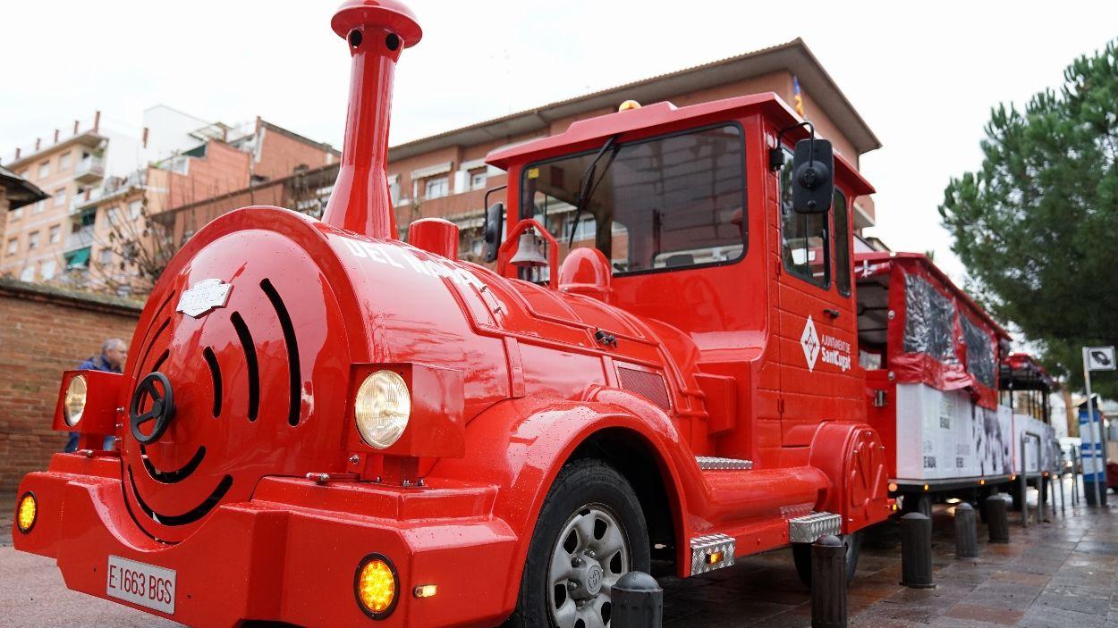 El trenet de Nadal el gestionarà enguany l'Ajuntament en comptes de Sant Cugat Comerç / Foto: Guillem Babitsch (Cugat Mèdia)