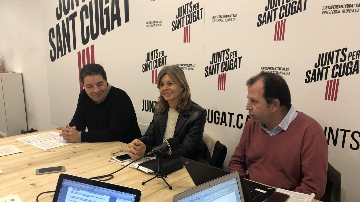 Roda de premsa de Junts per Sant Cugat / Foto: Cugat Mèdia