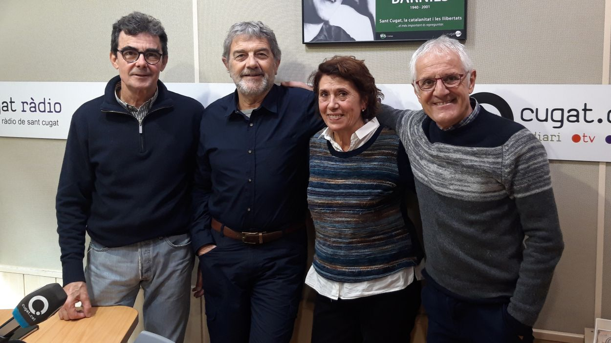 Mariona Bucallà amb Toni Samsó, Àlvar Roda i Rogeli Pedró / Foto: Cugat Mèdia