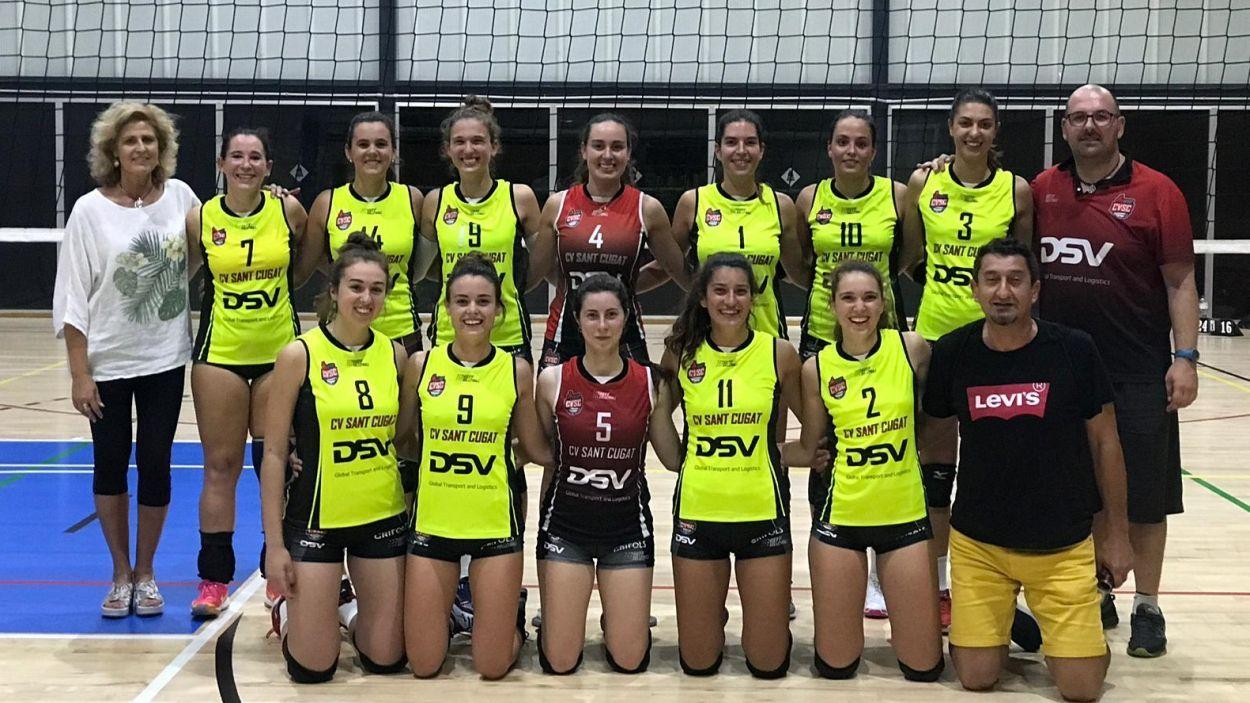 Equip de Primera Nacional del DSV- Club Sant Cugat / Font: Voleibol Sant Cugat