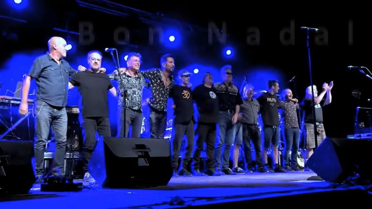 La banda en un dels concerts de la gira / Foto: Sau 30