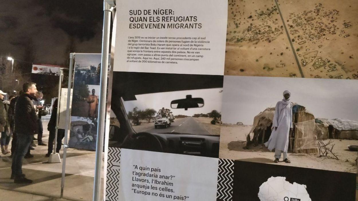 La mostra es pot veure fins al 3 de gener a la cruïlla entre Francesc Macià i el carrer de la Creu / Foto: Cugat Mèdia