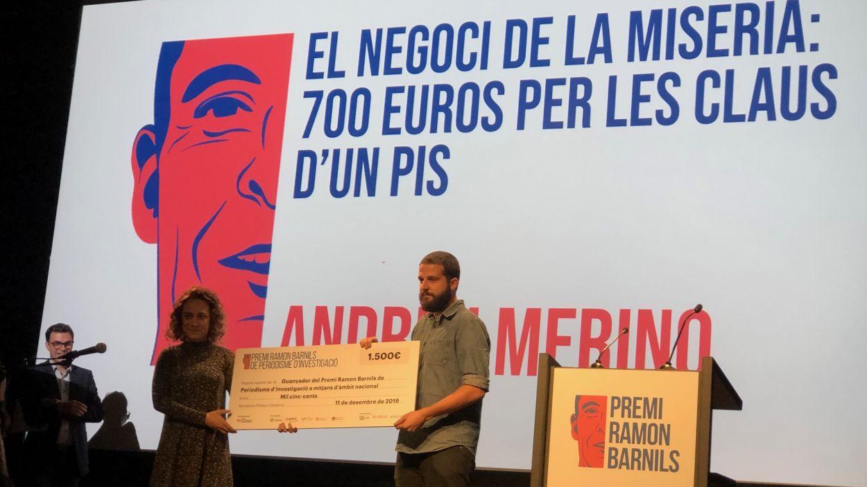 Una imatge de l'entrega de premis de l'edició 2019 / Foto: Cugat Mèdia
