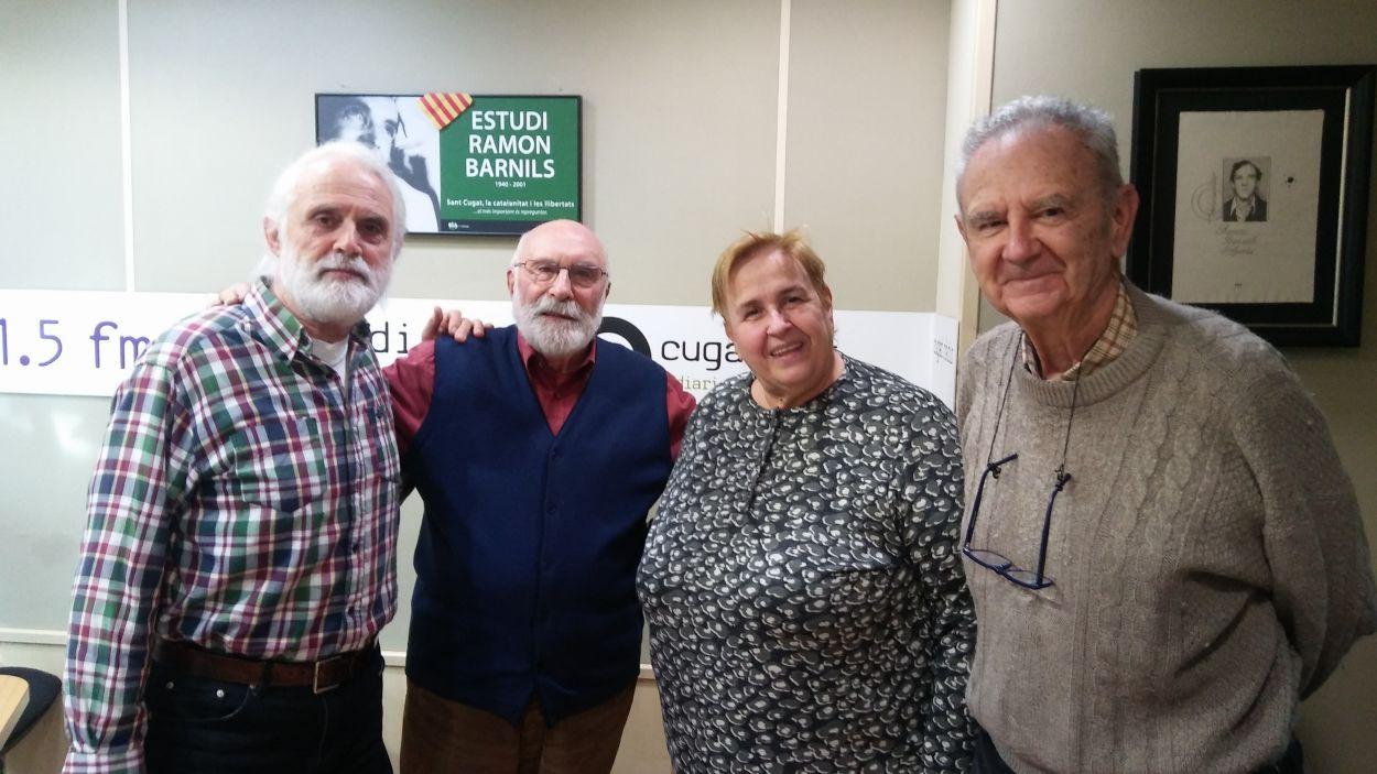 D'esquerra a dreta, Pere Codó, Eduard Jener, Dolors Vilarasau i Josep M. Jaumà / Foto: Cugat Mèdia