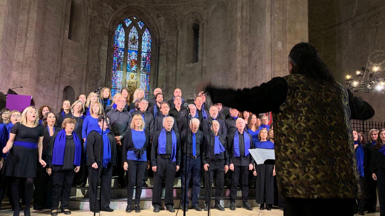 El Cor de Gospel Sant Cugat a l'espectacle 'Nadal a Casa' / Foto: Cugat Mèdia