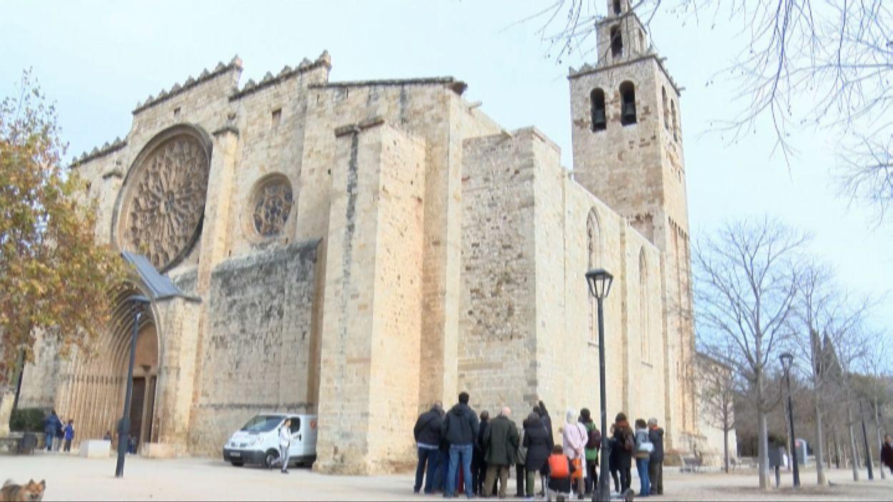 Finalitzades les obres a la façana sud del Monestir / Foto: Cugat Mèdia