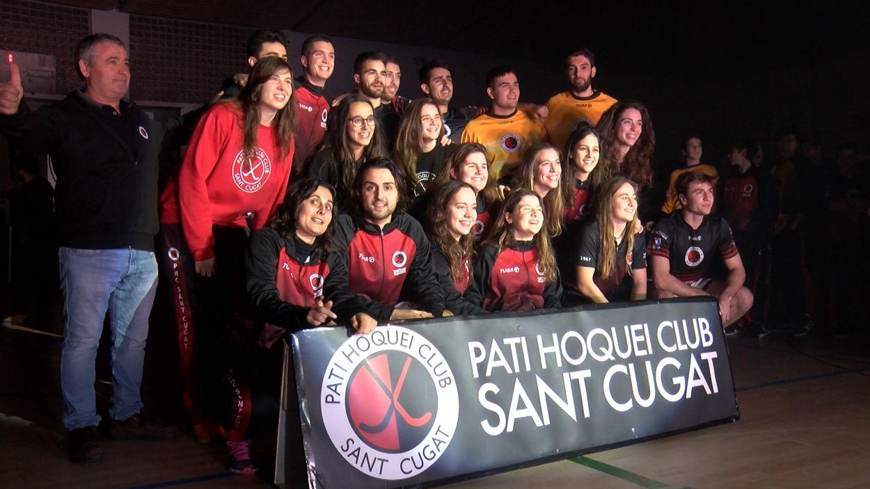 Els primers equips del Patí Hoquei durant la presentació / Foto: Cugat Mèdia