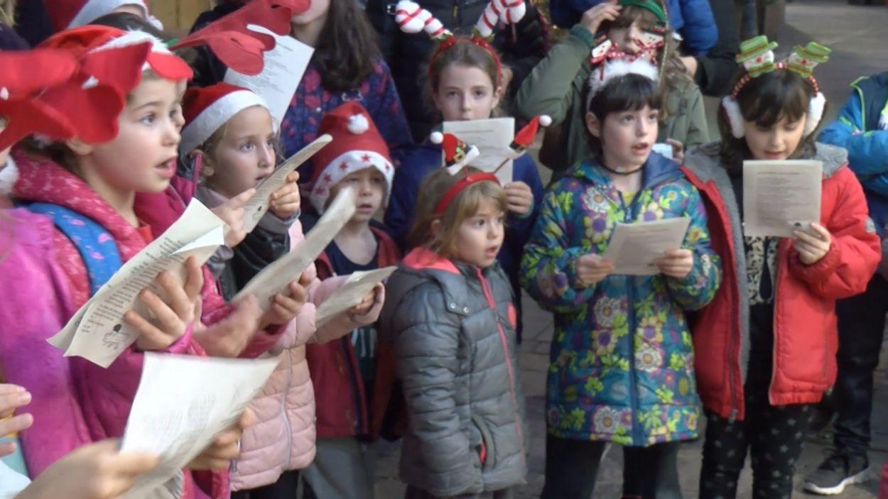 Els infants, protagonistes de la iniciativa / Foto: Cugat Mèdia