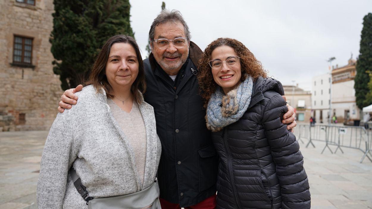 Silvia Soto, comunicadora gastronòmica, Jaume Sabat, pastisser i Maria López, de Teca Sabat / Foto: Cugat Mèdia - Guillem Babitsch
