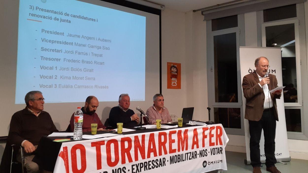 Jaume Angerri ha pres possessió aquest divendres / Foto: Òmnium