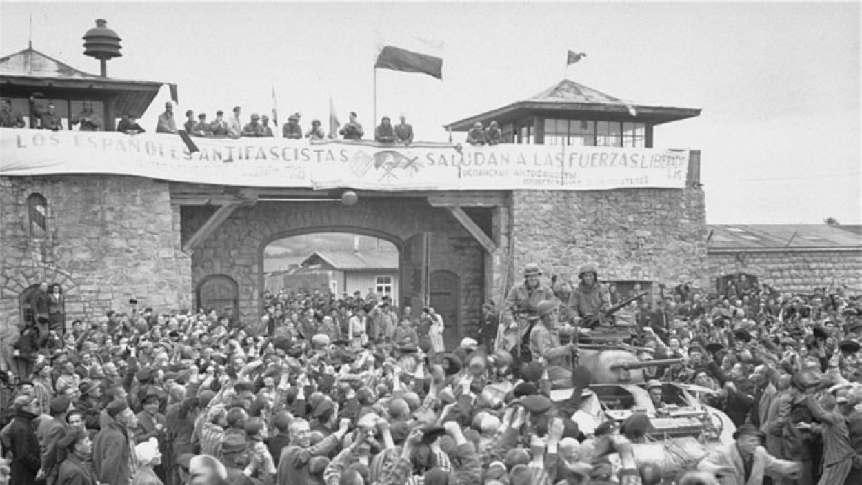 L'alliberament del camp de Mauthausen / Foto: National Archives and Records Administration