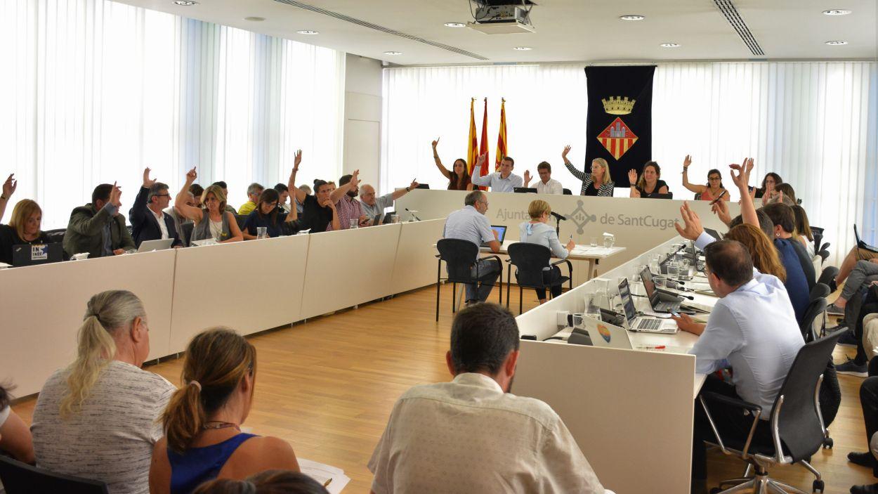 Imatge d'arxiu del ple / Foto: Premsa Sant Cugat