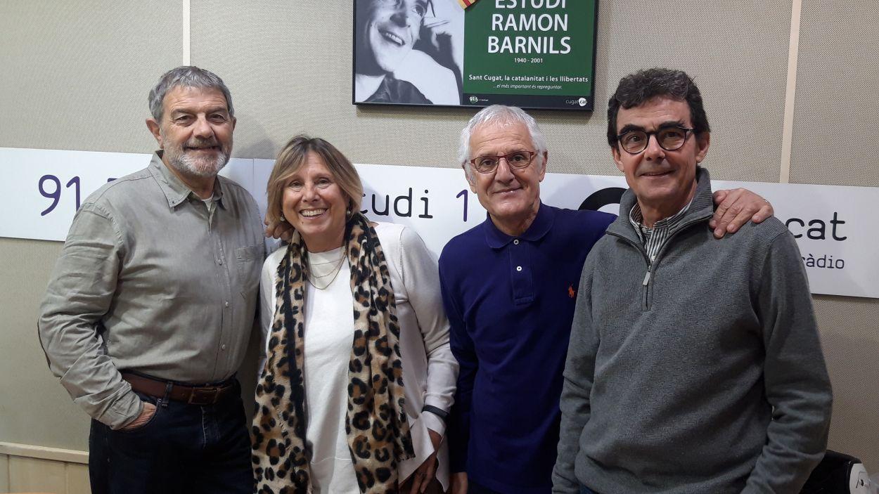 Teresa Canas amb Àlvar Roda, Rogeli Pedró i Toni Samsó / Foto: Cugat Mèdia