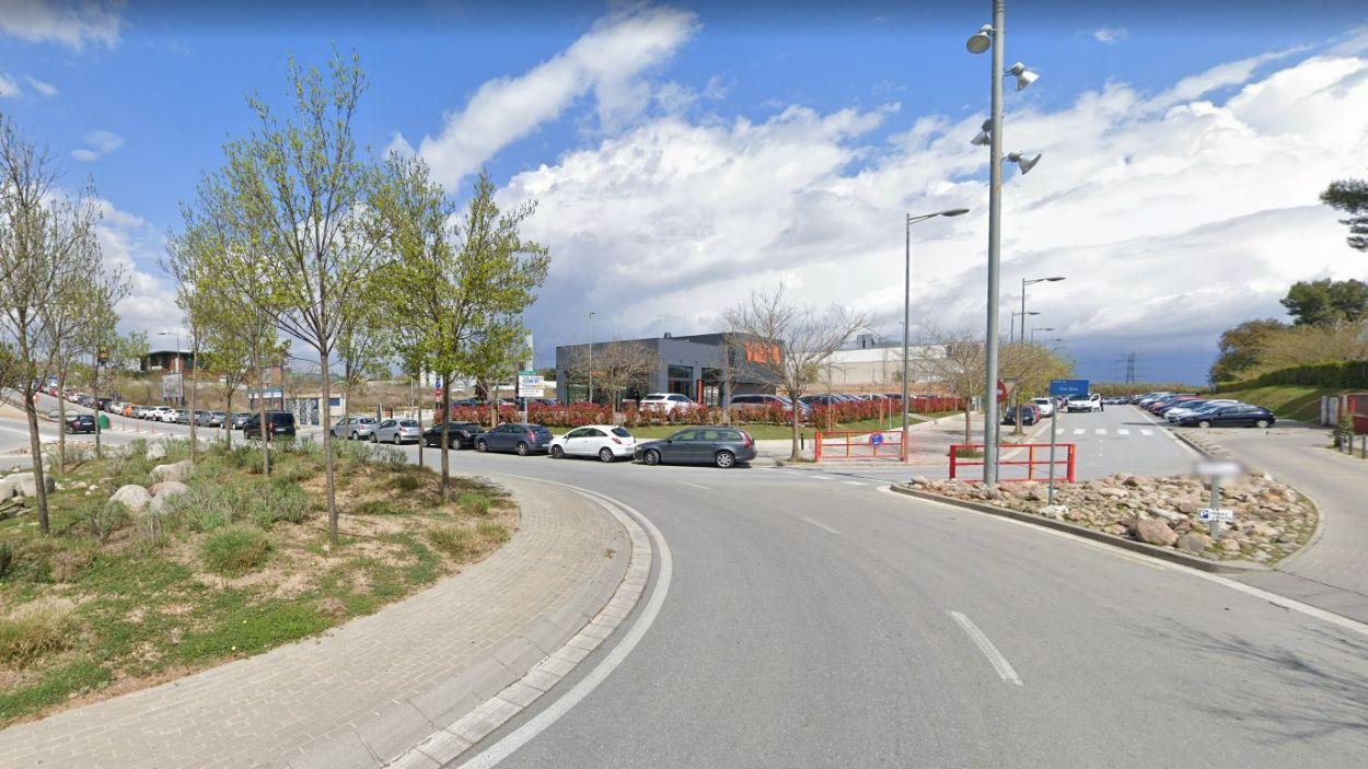 Zona on comença l'àmbit de l'avinguda de Roquetes / Foto: Google Maps