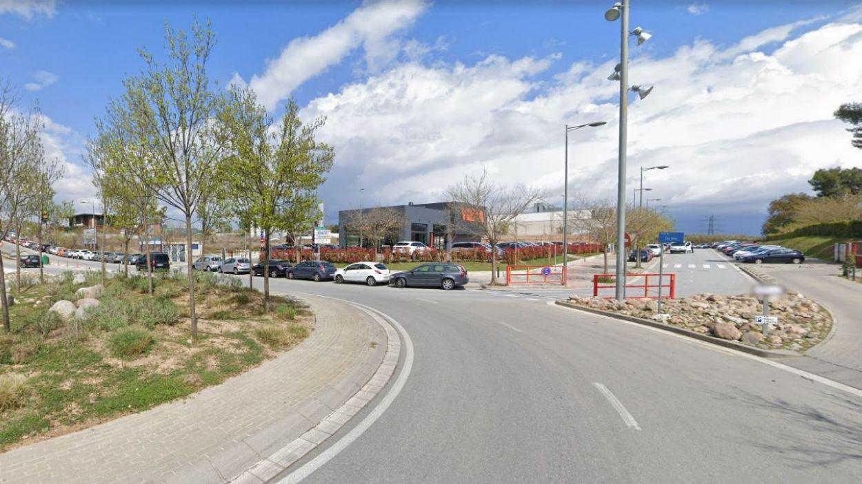 L'avinguda de Roquetes acolliria aquest equipament / Font: Google Maps