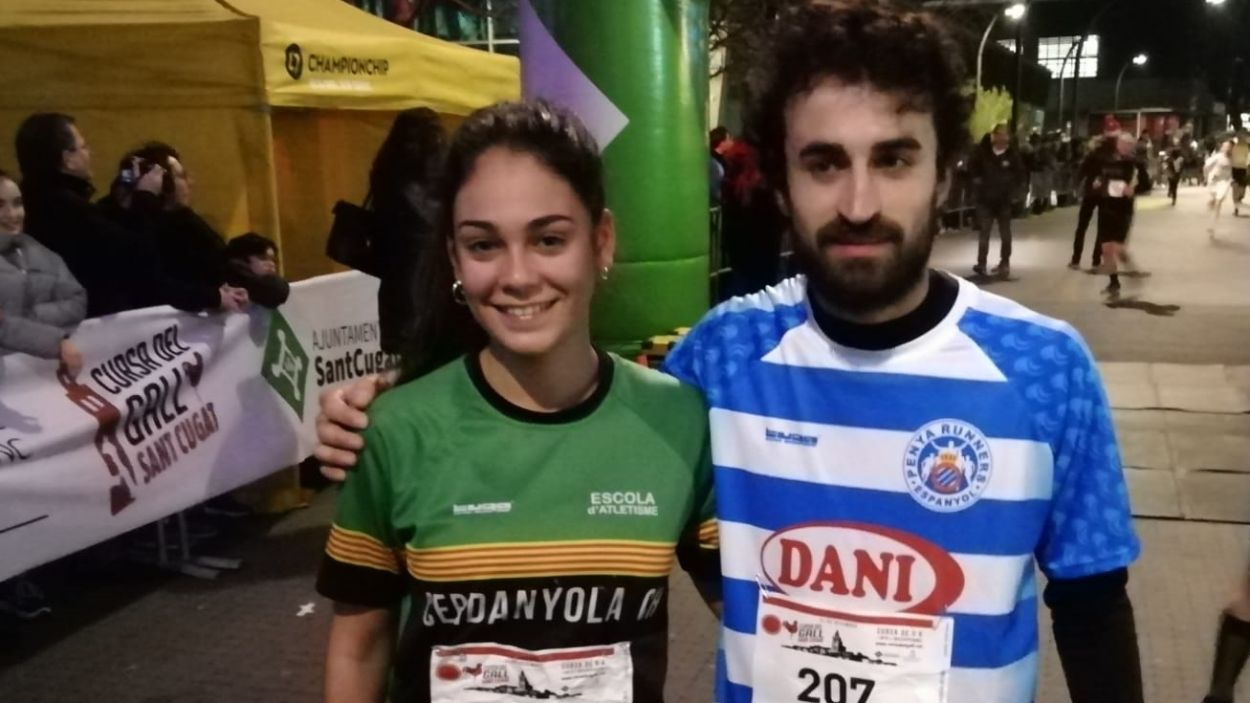 Aroa Berenguel i Pepe Díaz guanyen la 1a Cursa del Gall / Font: Cugat Mèdia