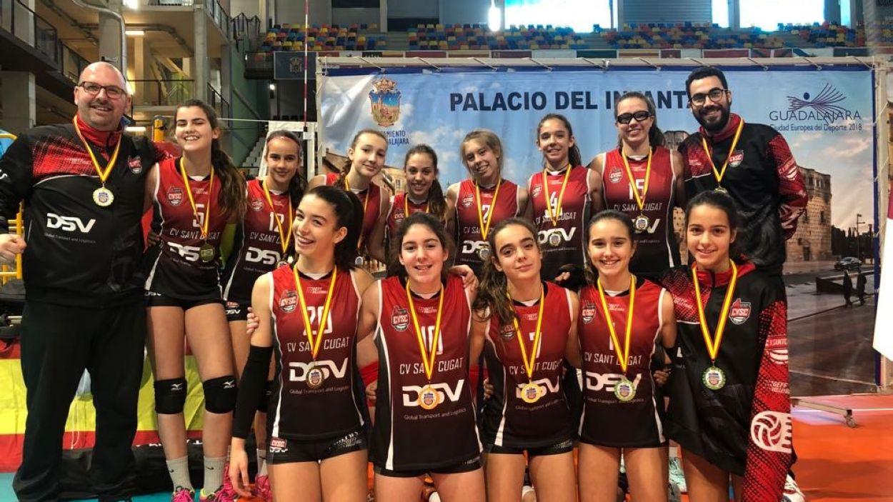 L'infantil del DSV- Club Voleibol Sant Cugat, campió de la Copa d'Espanya / Font: Voleibol Sant Cugat