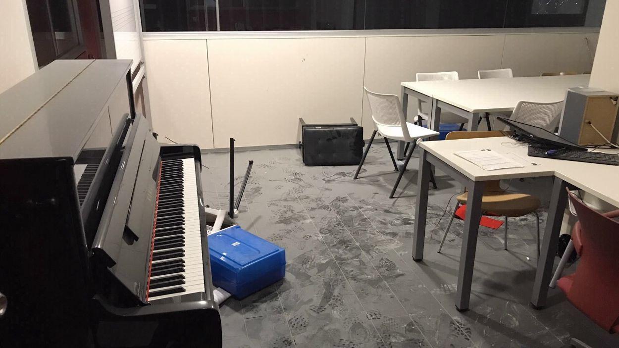 Així ha quedat una de les sales de l'escola municipal de música / Foto: Ajuntament