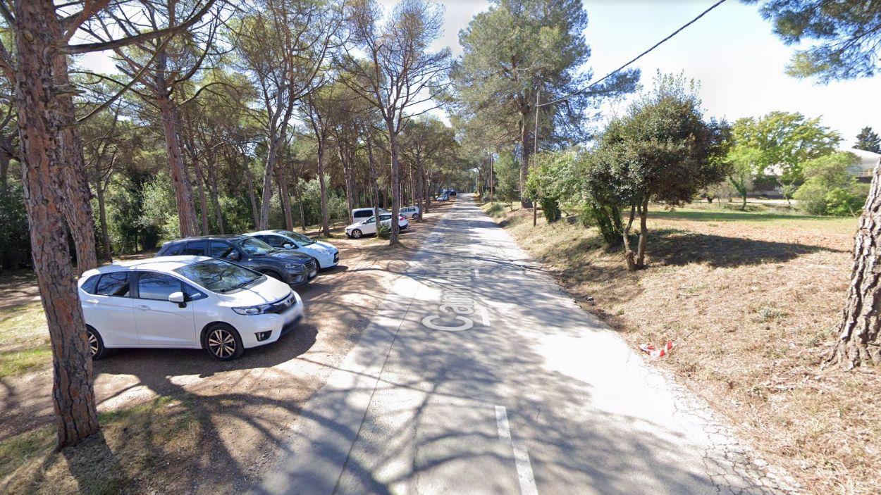 Imatge del camí del Crist Treballador, que connecta el Club Tennis Natació i l'Avenç / Foto: Google Maps