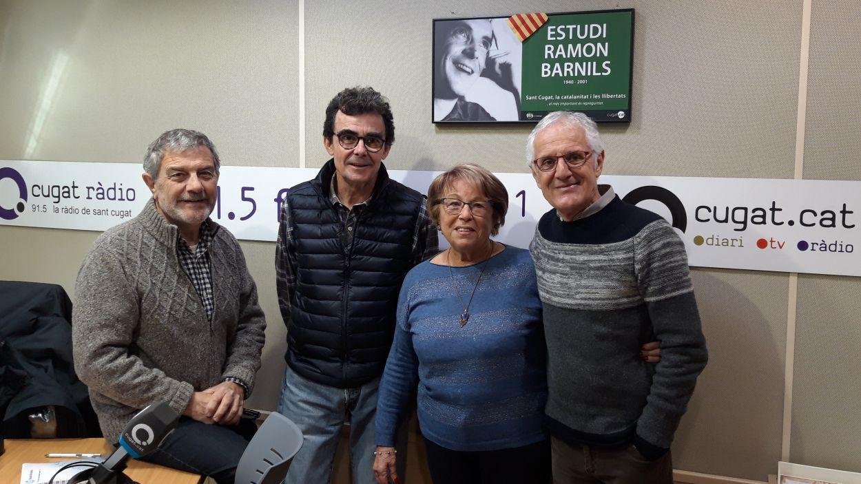 Núria Casulleras amb Àlvar Roda, Toni Samsó i Rogelí Pedró / Foto: Cugat Mèdia