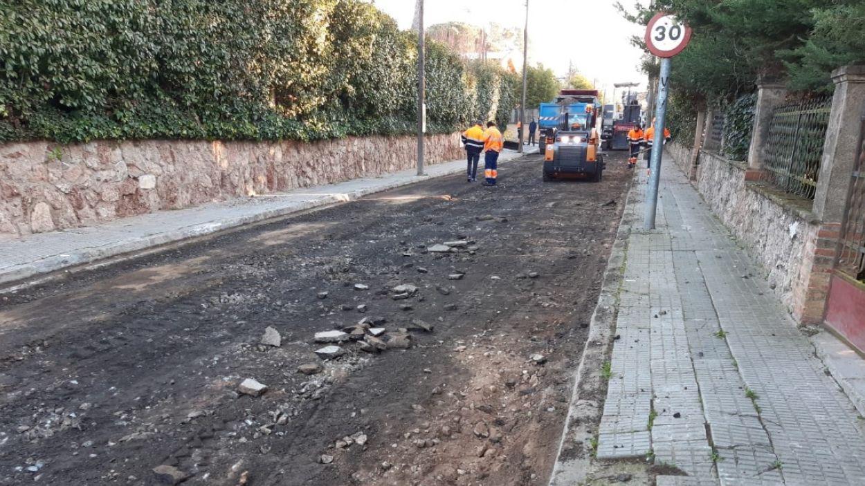 Els treballs serviran per millorar l'asfaltat / Foto: EMD