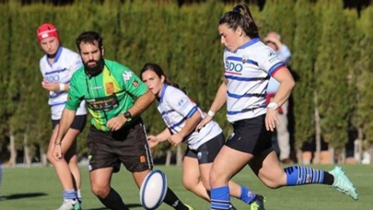 Beth Segarra amb el Rugby Sant Cugat / Font: Jaume Andreu
