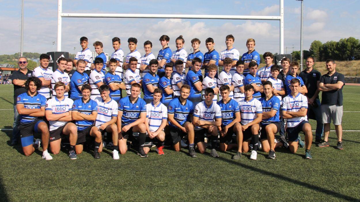 Equip sub 18 del Rugby Sant Cugat / Font: Rugby Sant Cugat