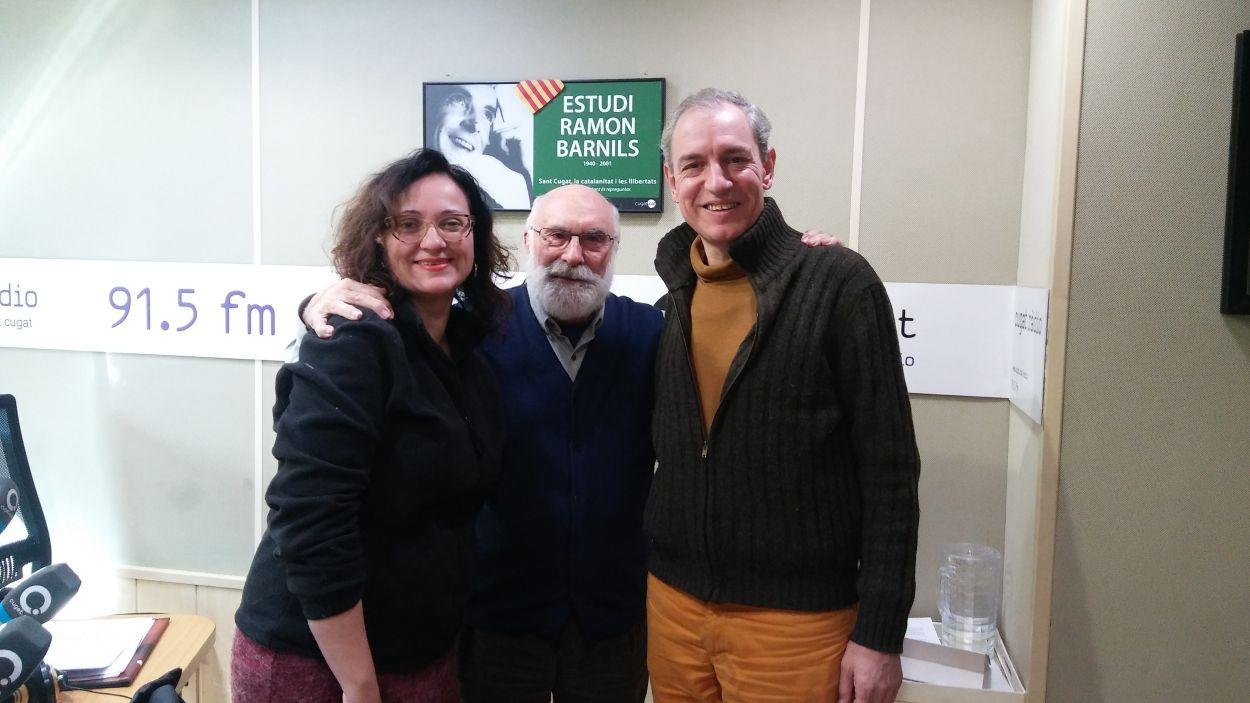 Míria Alamany, Eduard Jener i Carles Martínez / Foto: Cugat Mèdia