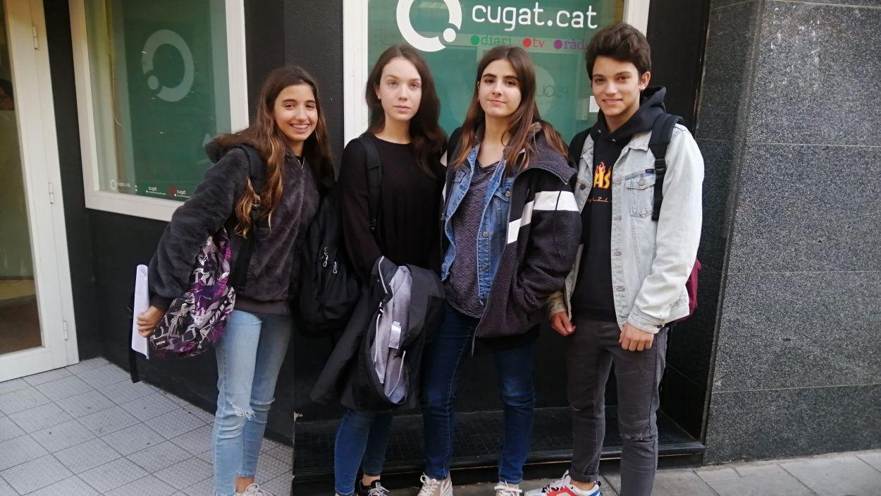 Els alumnes de l'Arnau Cadell / Foto: Cugat Mèdia