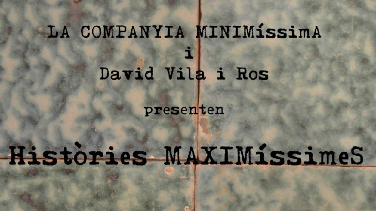 'Històries maximíssimes': Música d'arrel i contes de revolta, amb una mica de vi