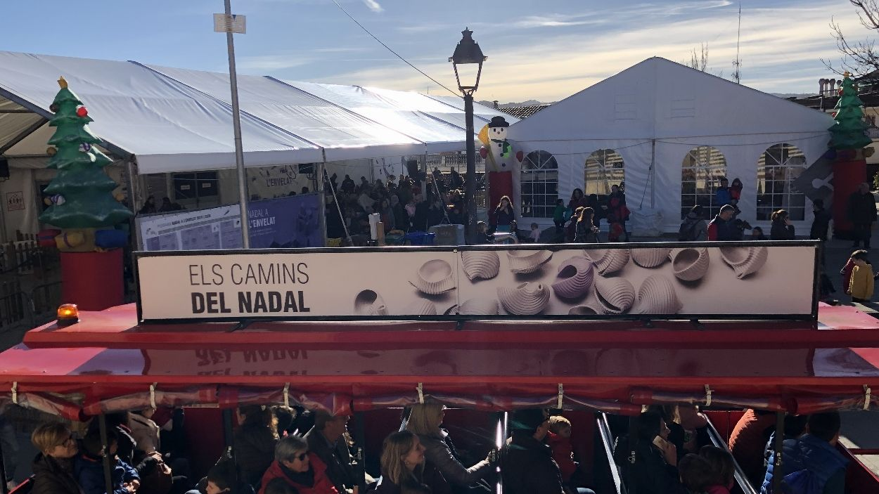 El trenet gestionat per l'Ajuntament i el canvi d'ubicació de l'Envelat, algunes novetats del Nadal / Foto: Cugat Mèdia
