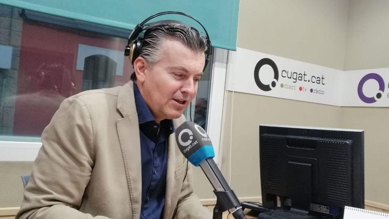 Ramon Gener durant l'entrevista al magazín 'Sant Cugat a fons' / Foto: Cugat Mèdia