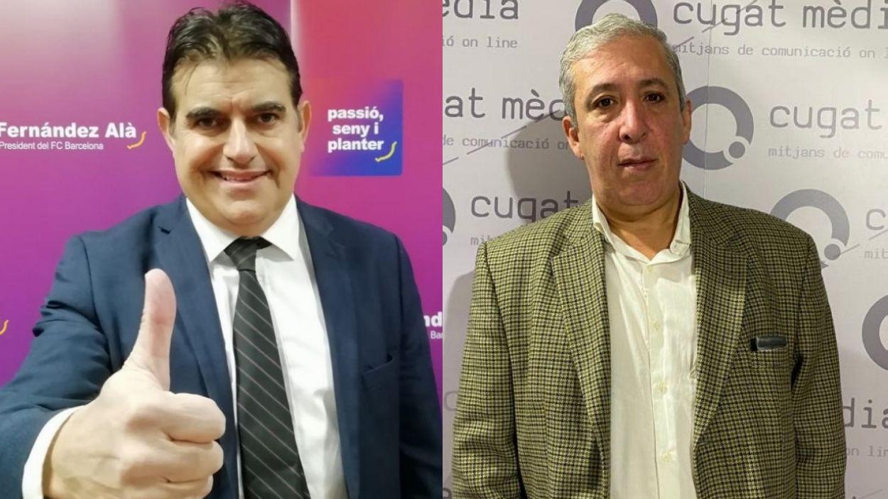 D'esquerra a dreta, Lluís Fernández-Alà i Pere Riera / Font: Cugat Mèdia