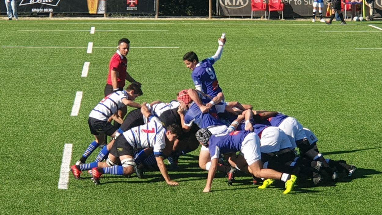 Imatge de la final de la Copa Ibèrica entre Rugby Sant Cugat i Os Belenenses / Font: Hugo Almeida
