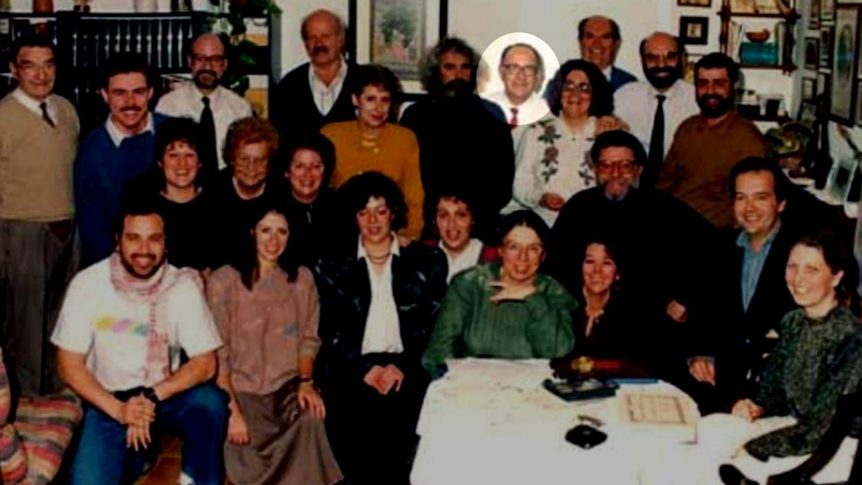 Foto del família dels fundadors de l'Orquestra Simfònica Sant Cugat, amb Puntós entre ells / Foto: OSSC