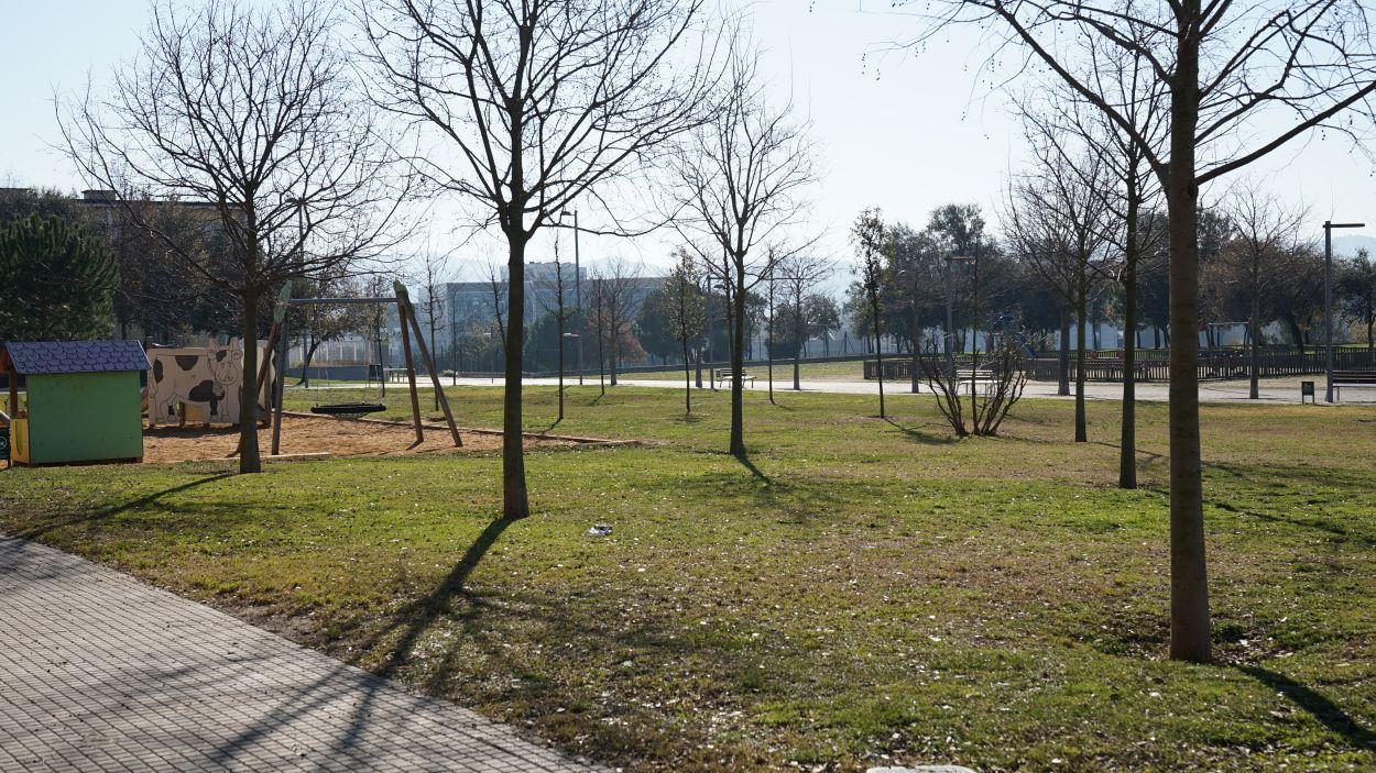 El parc del Patufet de Volpelleres s'ha hagut de traslladar uns metres pels mòduls de La Mirada / Foto: Guillem Babitsch (Cugat Mèdia)