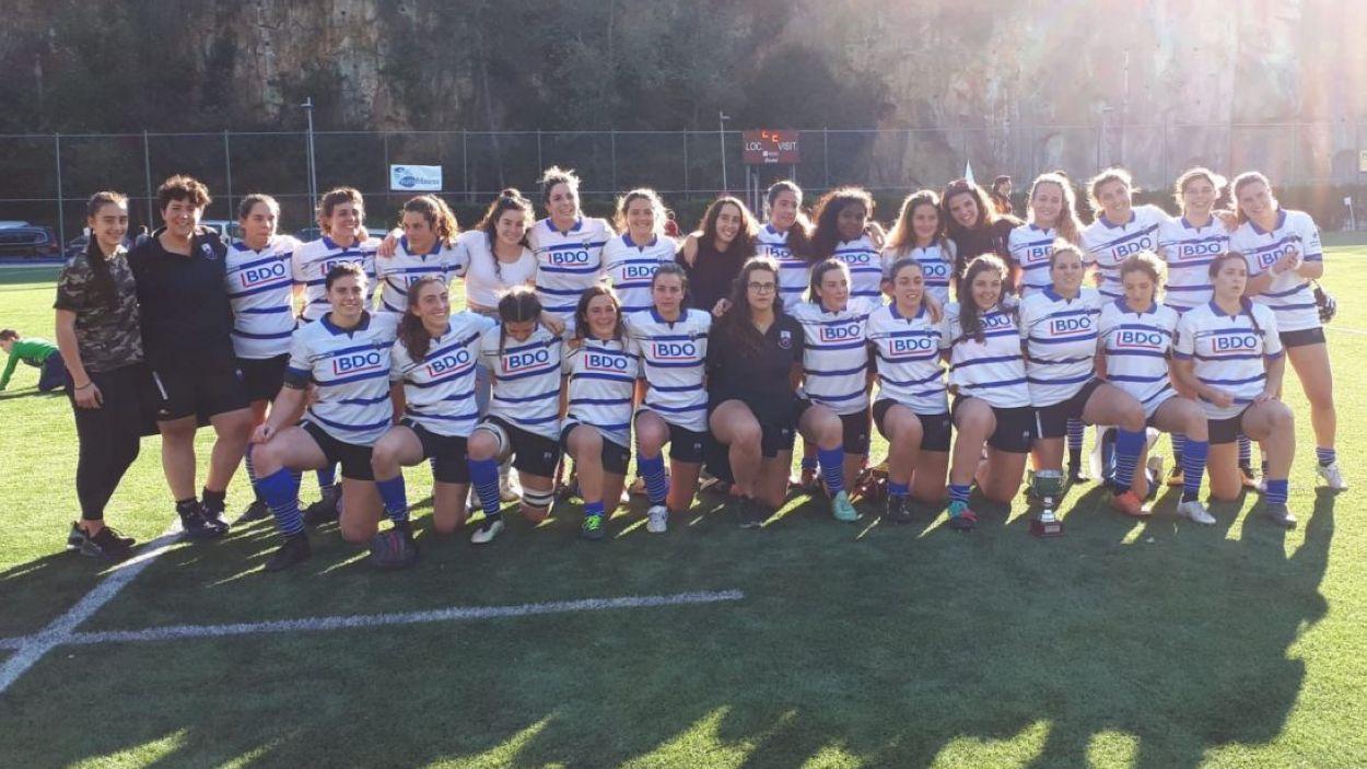 Plantilla del Rugby Sant Cugat femení / Font: Cugat Mèdia