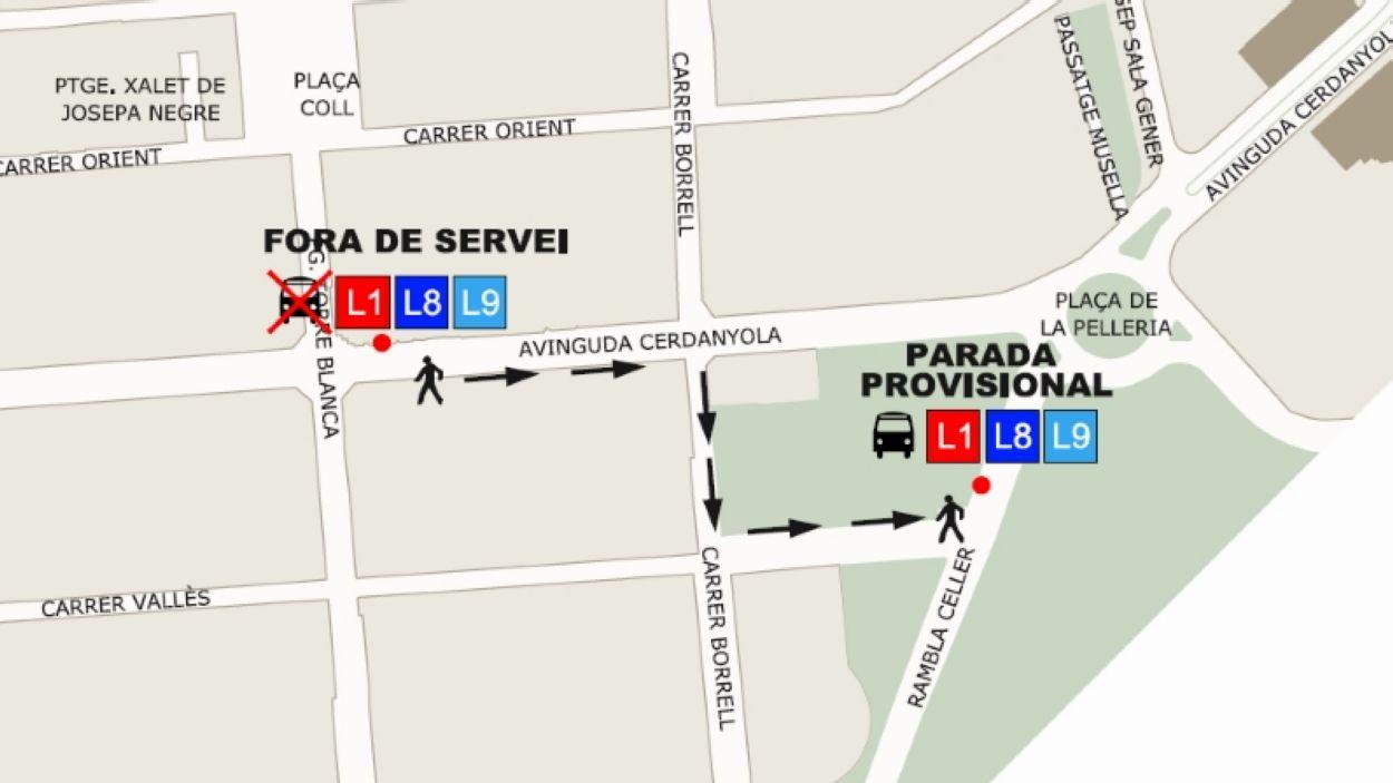 Tall de trànsit a l'avinguda de Cerdanyola / Foto: Ajuntament