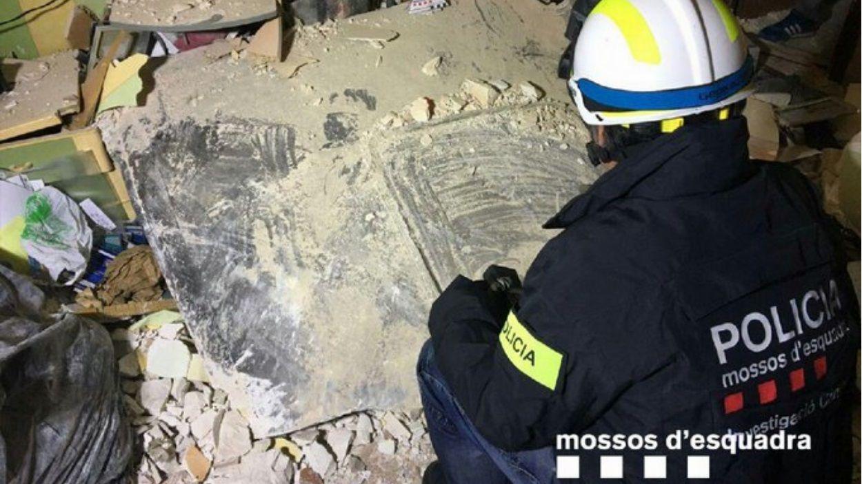 Imatge de la investigació d'un dels esfondraments / Foto: Mossos d'Esquadra