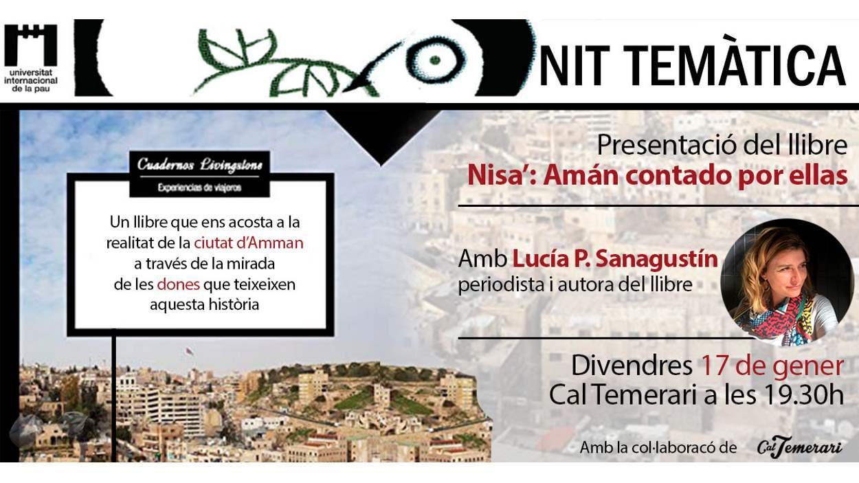 Nits temàtiques de la Unipau: Presentació del llibre 'Nisa'. Amán contado por ellas'