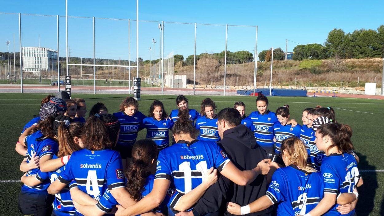 Triomf històric del femení del Rugby Sant Cugat / Font: Rugby Sant Cugat
