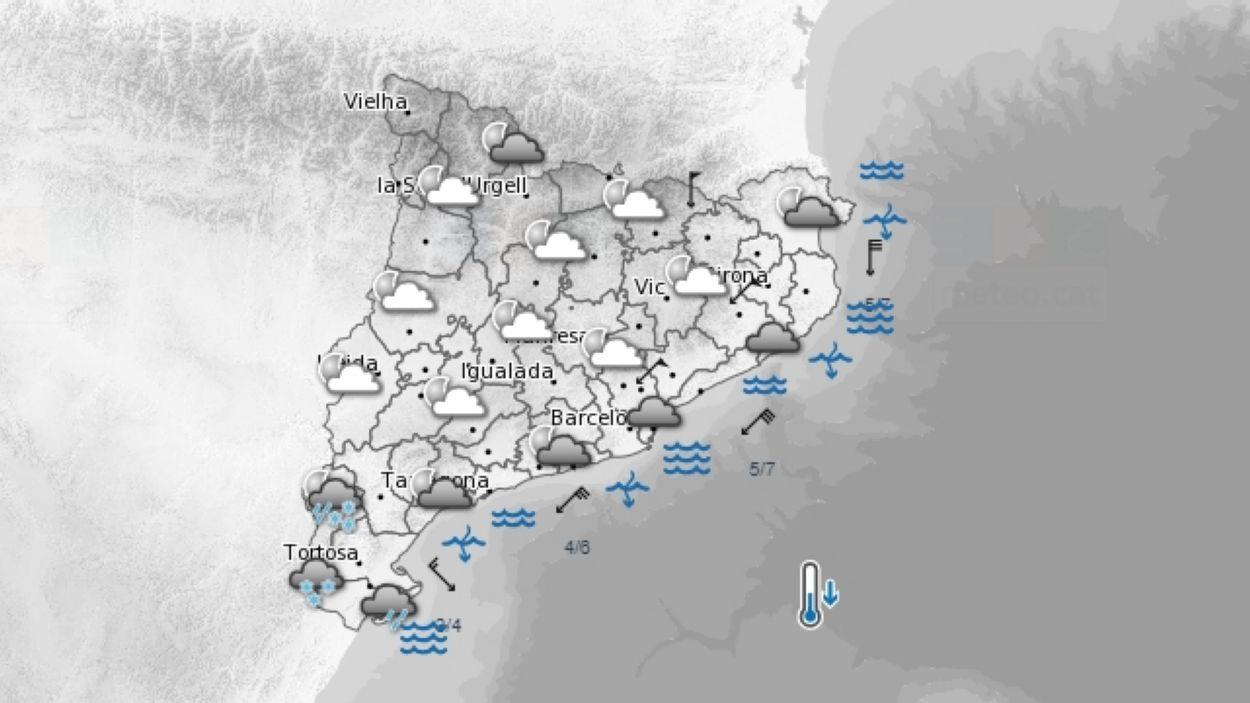 Activat el Pla INNUNCAT / Font: Servei Metereològic de Catalunya