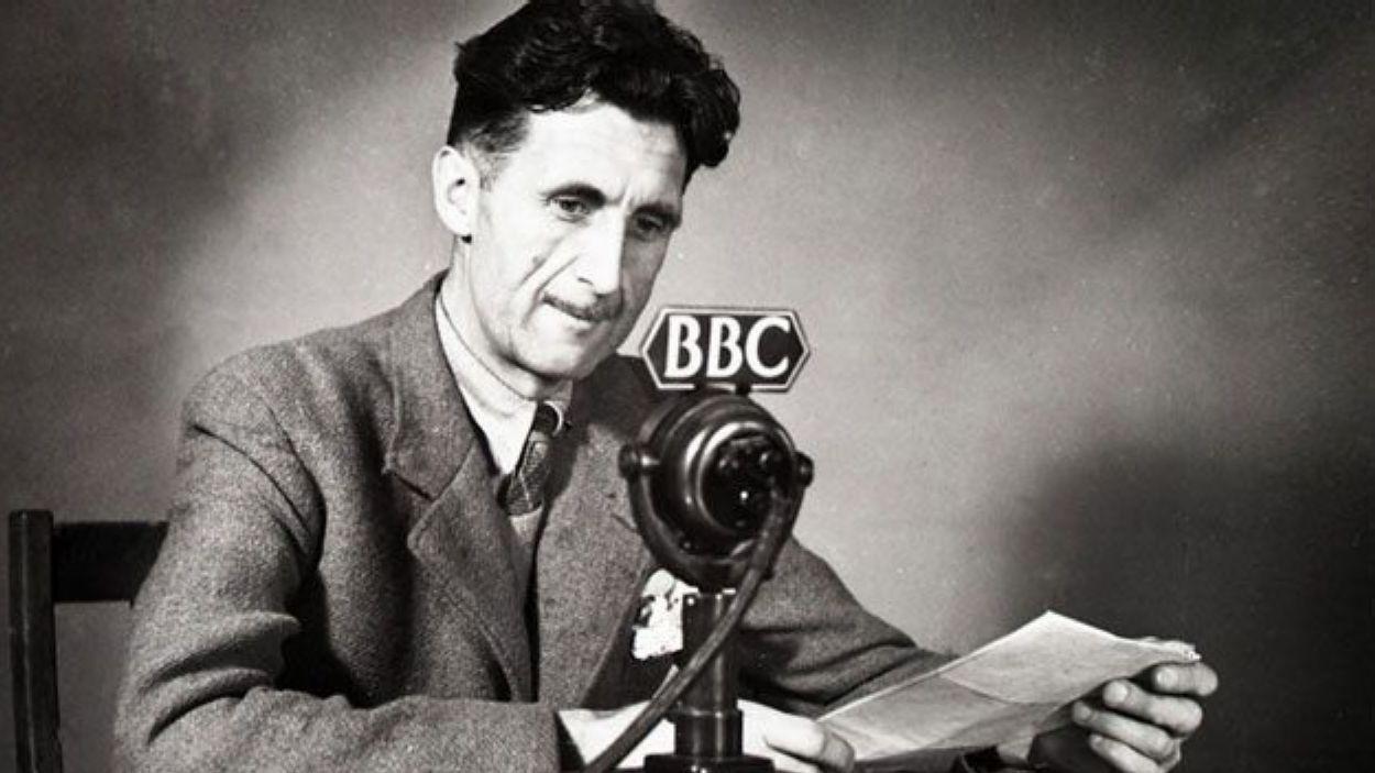 George Orwell, a la BBC / Foto: Arxiu BBC