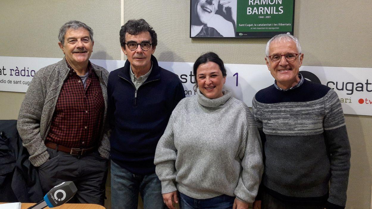 Mireia Gallego amb Àlvar Roda, Toni Samsó i Rogeli Pedró / Foto: Cugat Mèdia