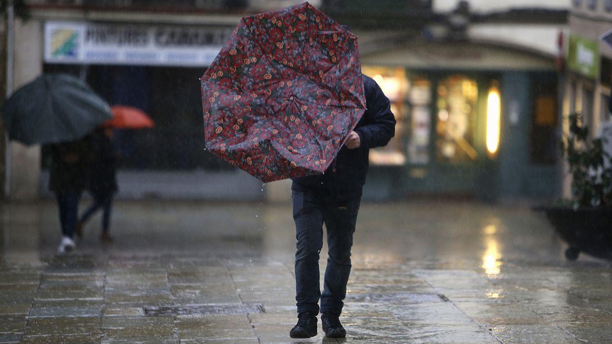 Imatge del temporal a Sant Cugat / Foto: Lluís Llebot (Cugat Mèdia)